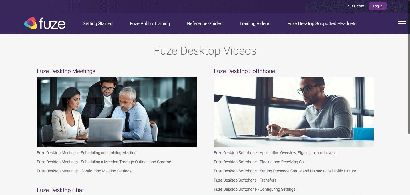 Fuze Desktop Training Videos