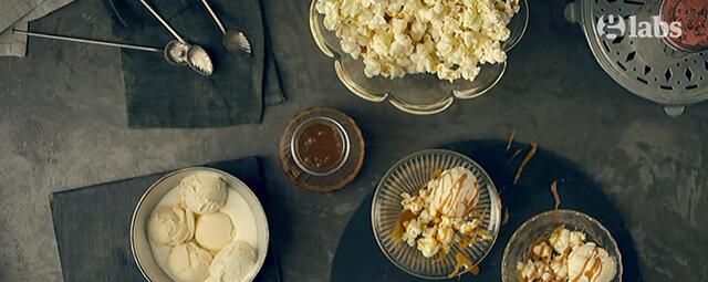 Butterscotch Popcorn Sundae